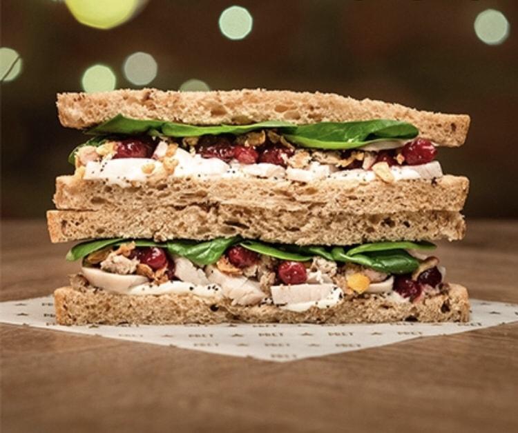 Pret Manger Christmas lunch sandwich (pork)