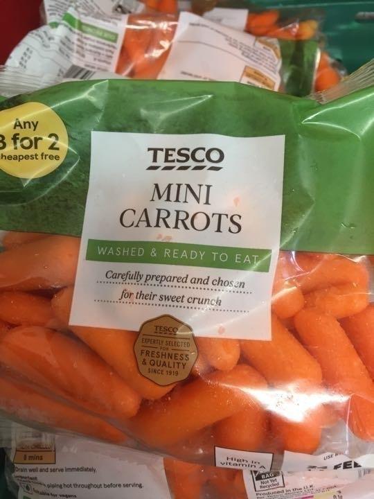 Ready to eat mini carrots
