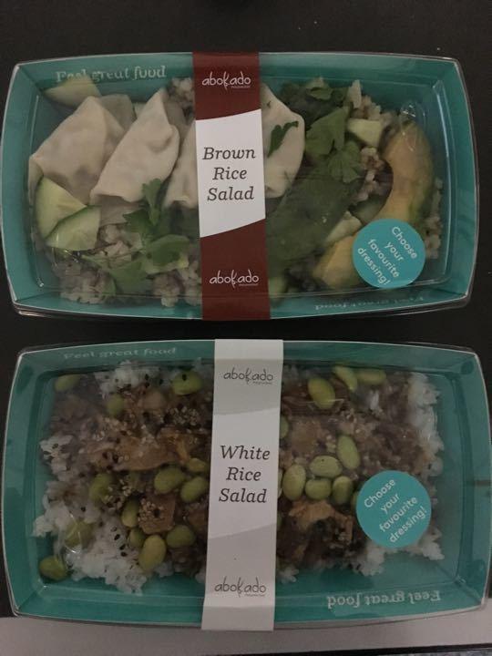 Gyoza Brown Rice salad trays
