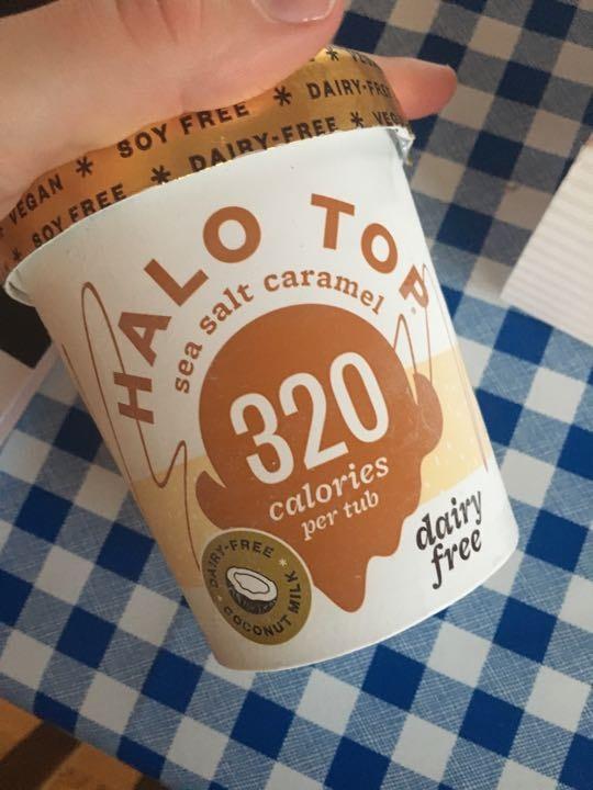 Halo top dairy free sea salt caramel
