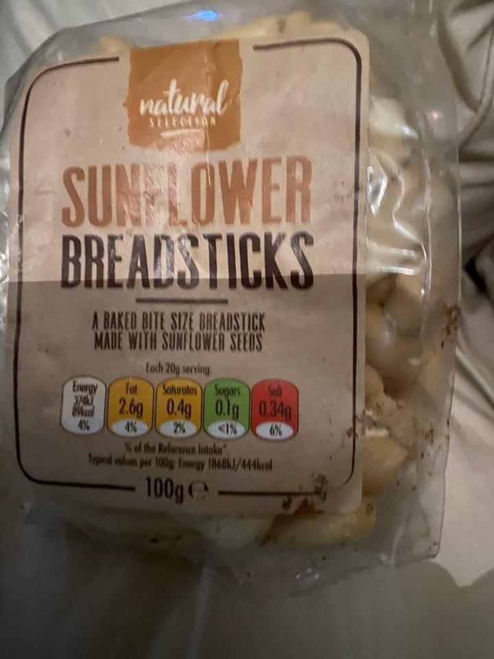 Sunflower breadsticks