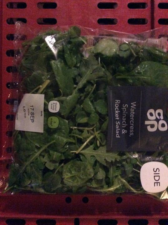 Watercress spinach and rocket