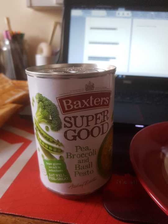 Baxters pea  broccoli and basil pesto soup