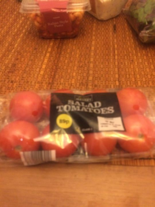 Packs of tomatoes