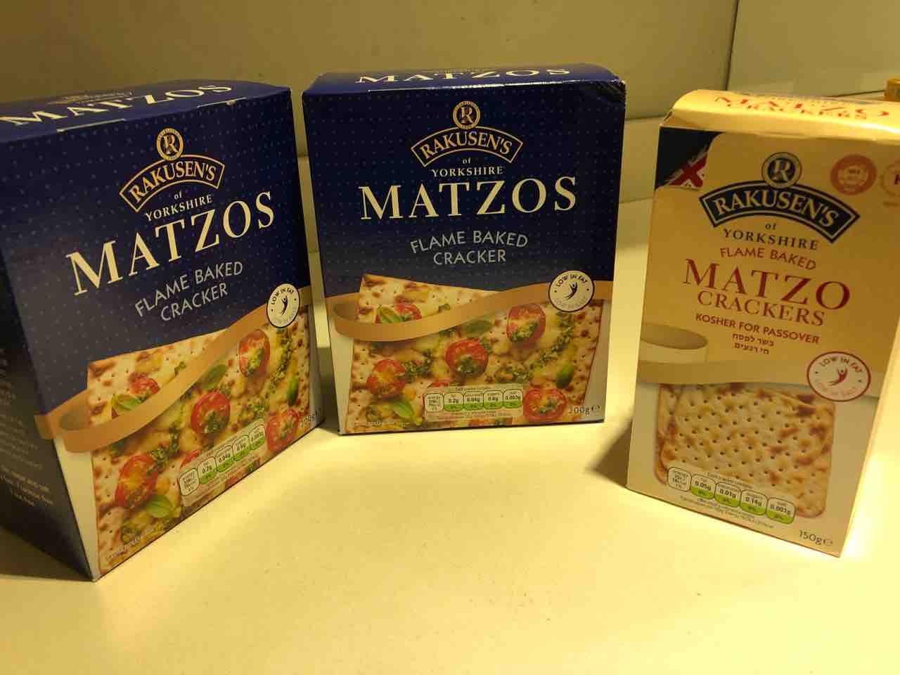 3 boxes of unopened matzah crackers