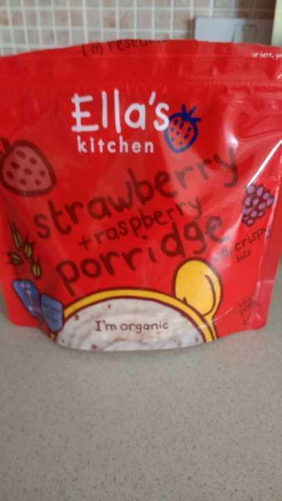 Ella's kitchen strawberry+ raspberry porridge