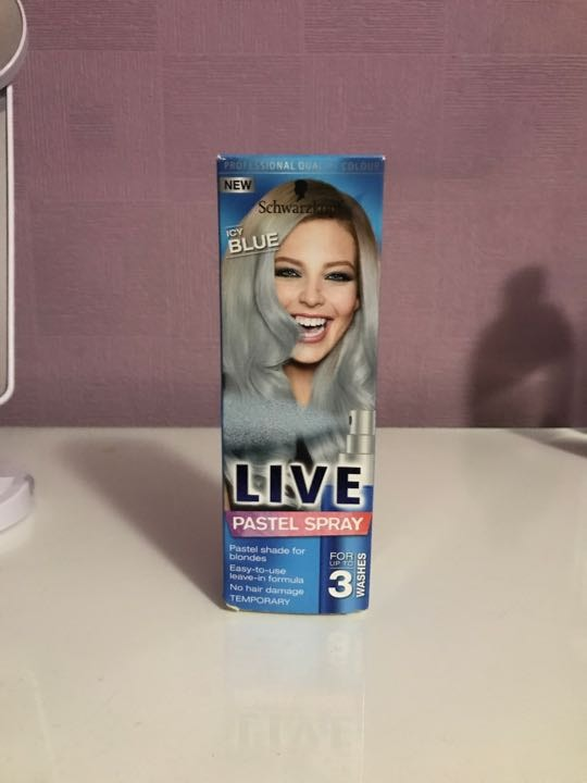 LIVE pastel hairspray (icy blue)