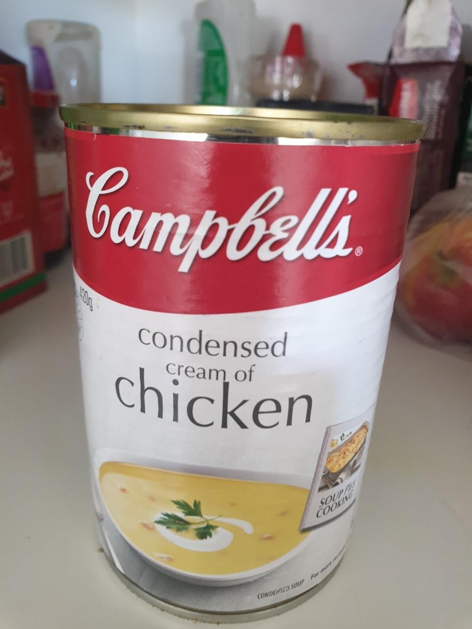 Condensed cream of chicken