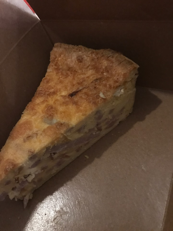 2x ham and cheese pie from Caffe Nero