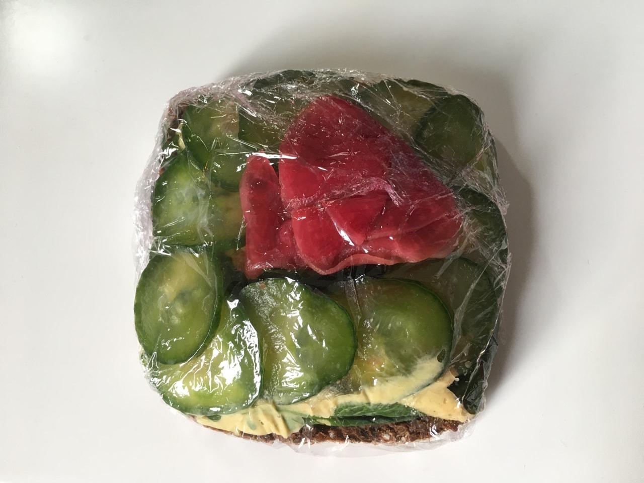 Vegan open sandwich from Fotografiska (31/1)
