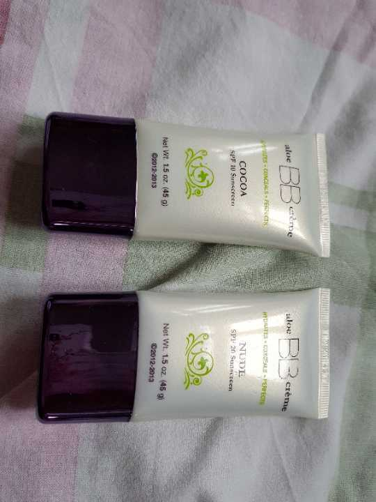 BB cream light and dark with sun protection