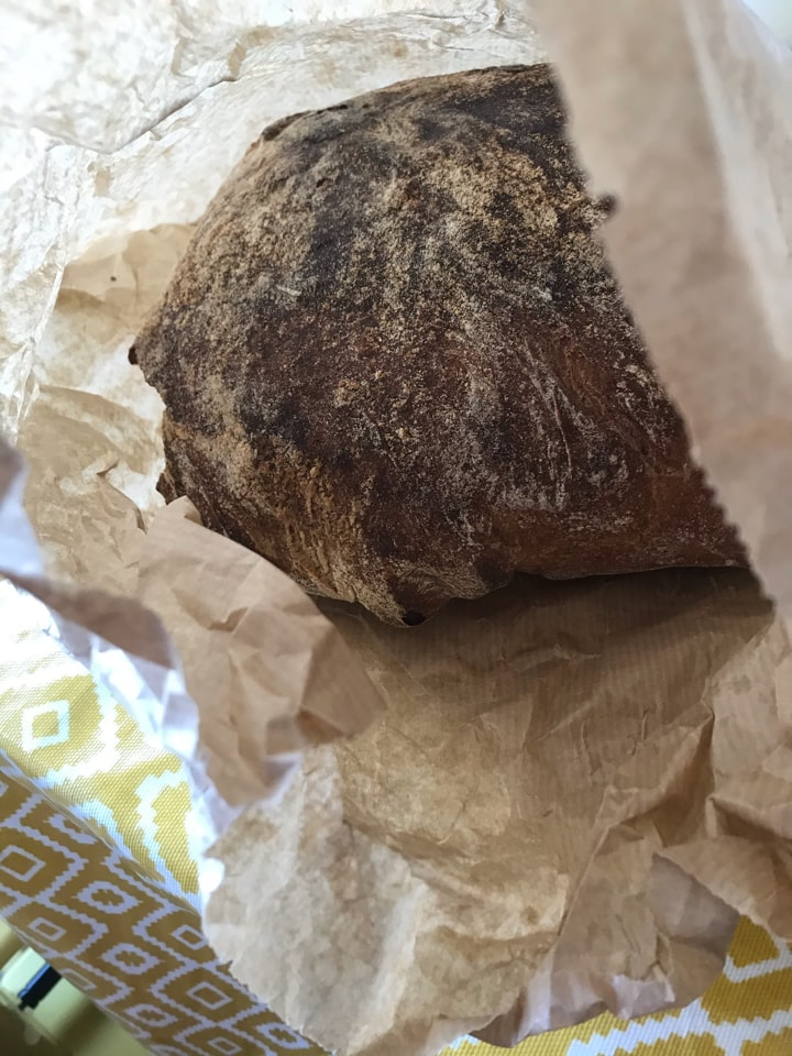 Bag 8: large loaf from artisan bakery