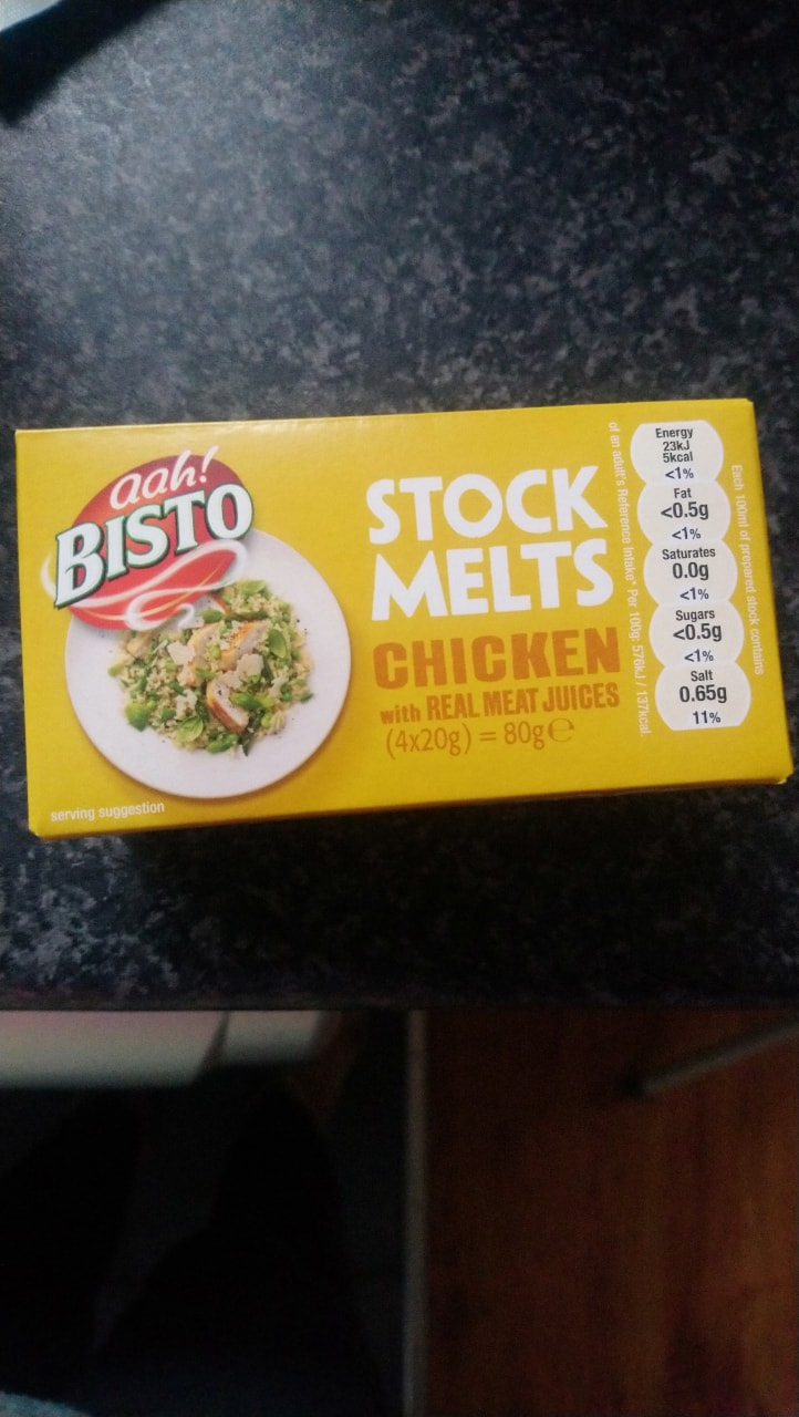 Bisto chicken stock melts made with real meat juices 4x20g pots