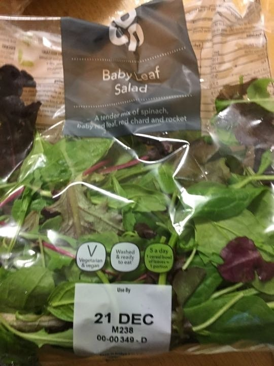 Baby leaf salad pick up by 10.30 please