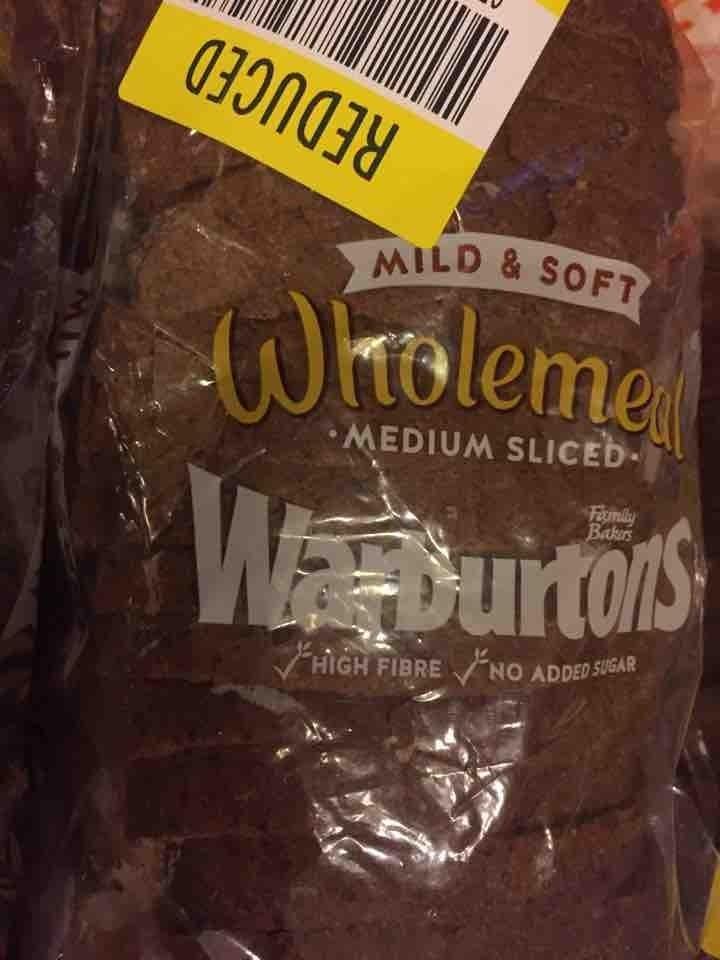 Small medium sliced wholemeal loaf