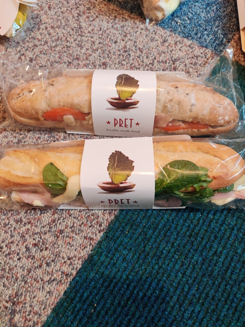2 Pret Meat Sandwiches (SEE PICTURES)