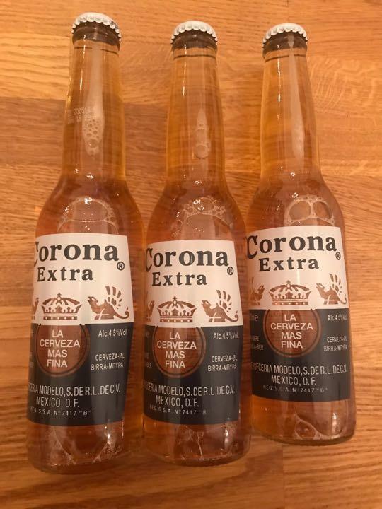 3 bottles of Corona