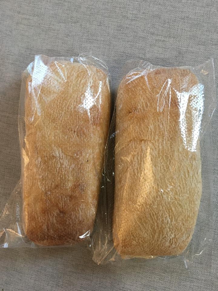 2 individual cibatta breads