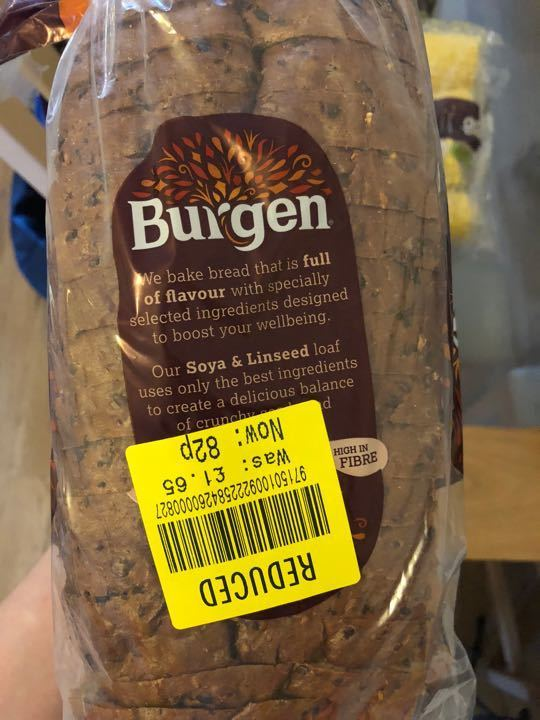 Burgen soya and linseed bread