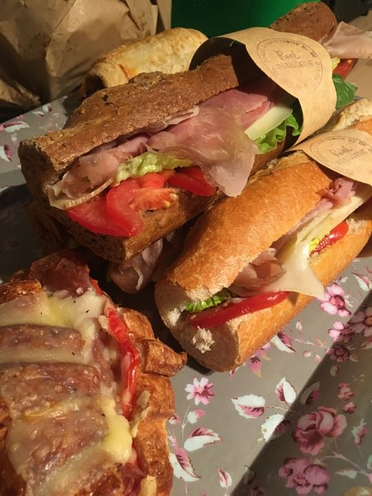 Meat sandwiches, sausage rolls