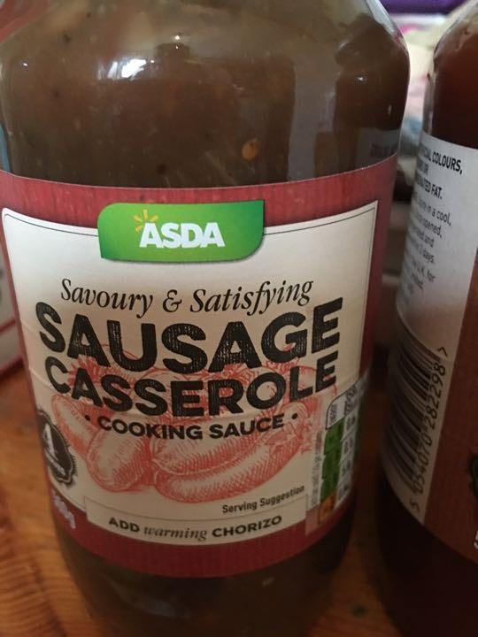 Jar of Asda sausage casserole sauce