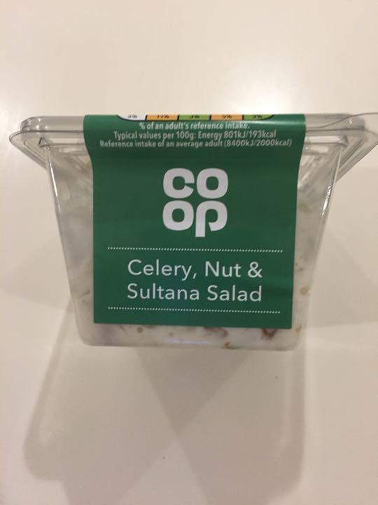 Celery nut and sultana salad