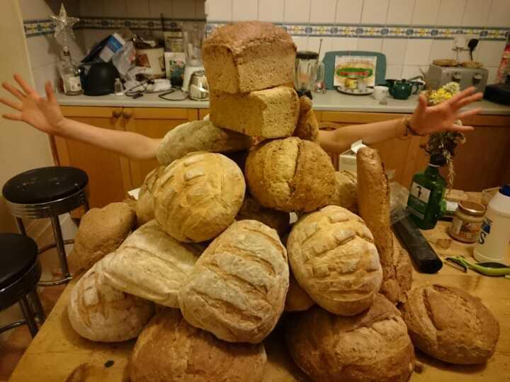 LOTS of artisan bread!