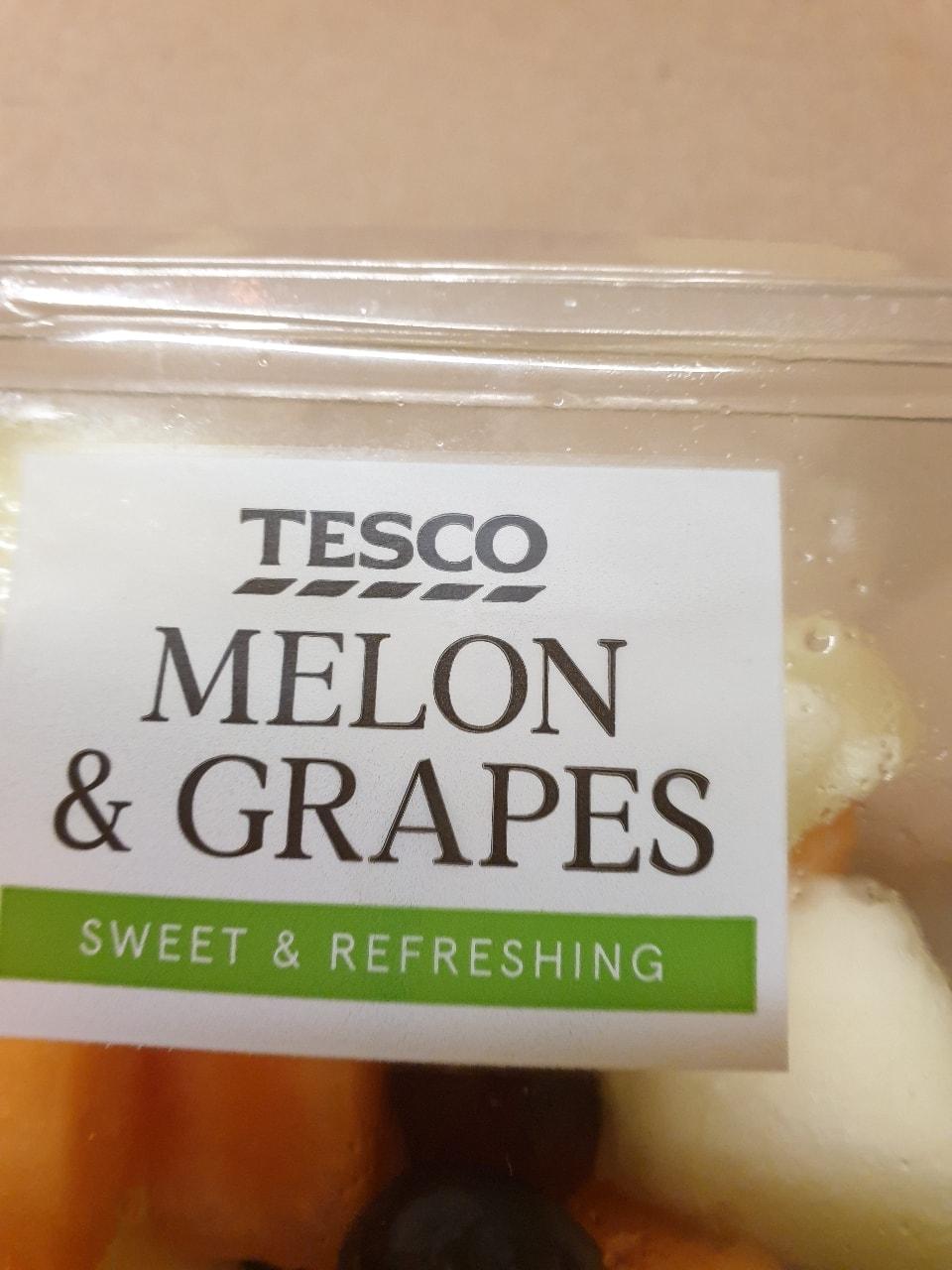 Melon and grape