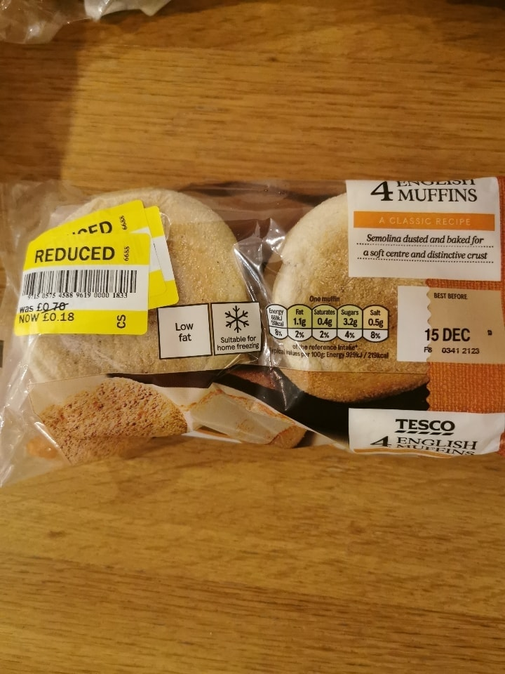English muffins four pack