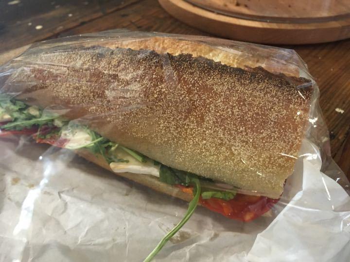 Chorizo & brie sourdough sandwich