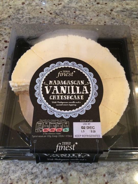 3/4 Tesco finest Madagascan Vanilla cheesecake
