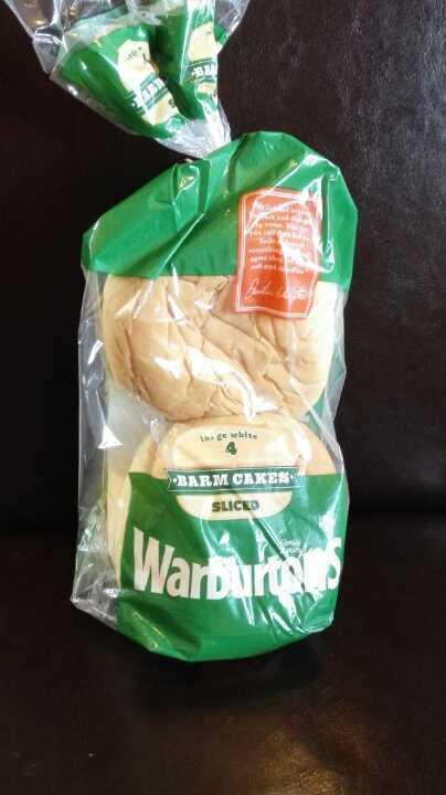 Warburtons large white sliced barm cakes