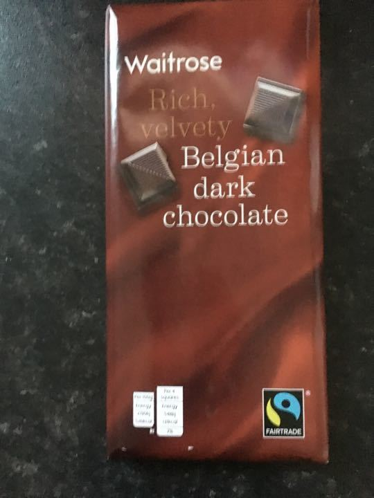 Waitrose Belgian dark chocolate