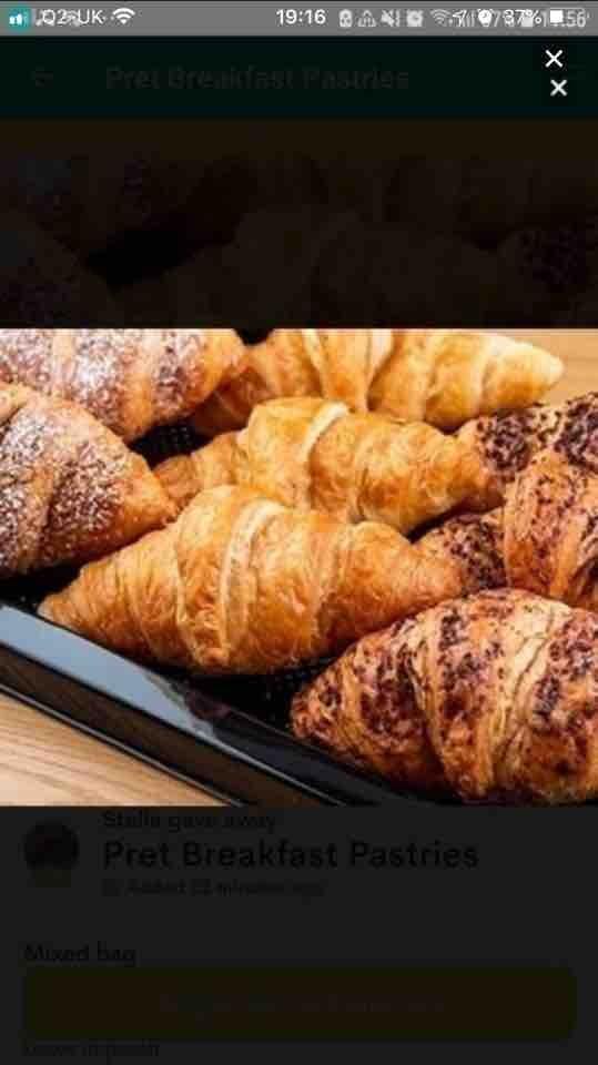 Pret A Manger pastries