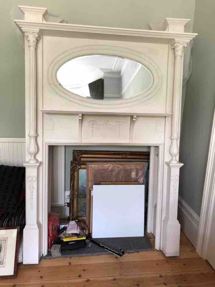 Victorian fireplace surrounds in wood - 2x