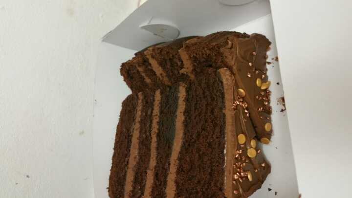 2 pieces of chocolate cake @ Angel  Food Bakery