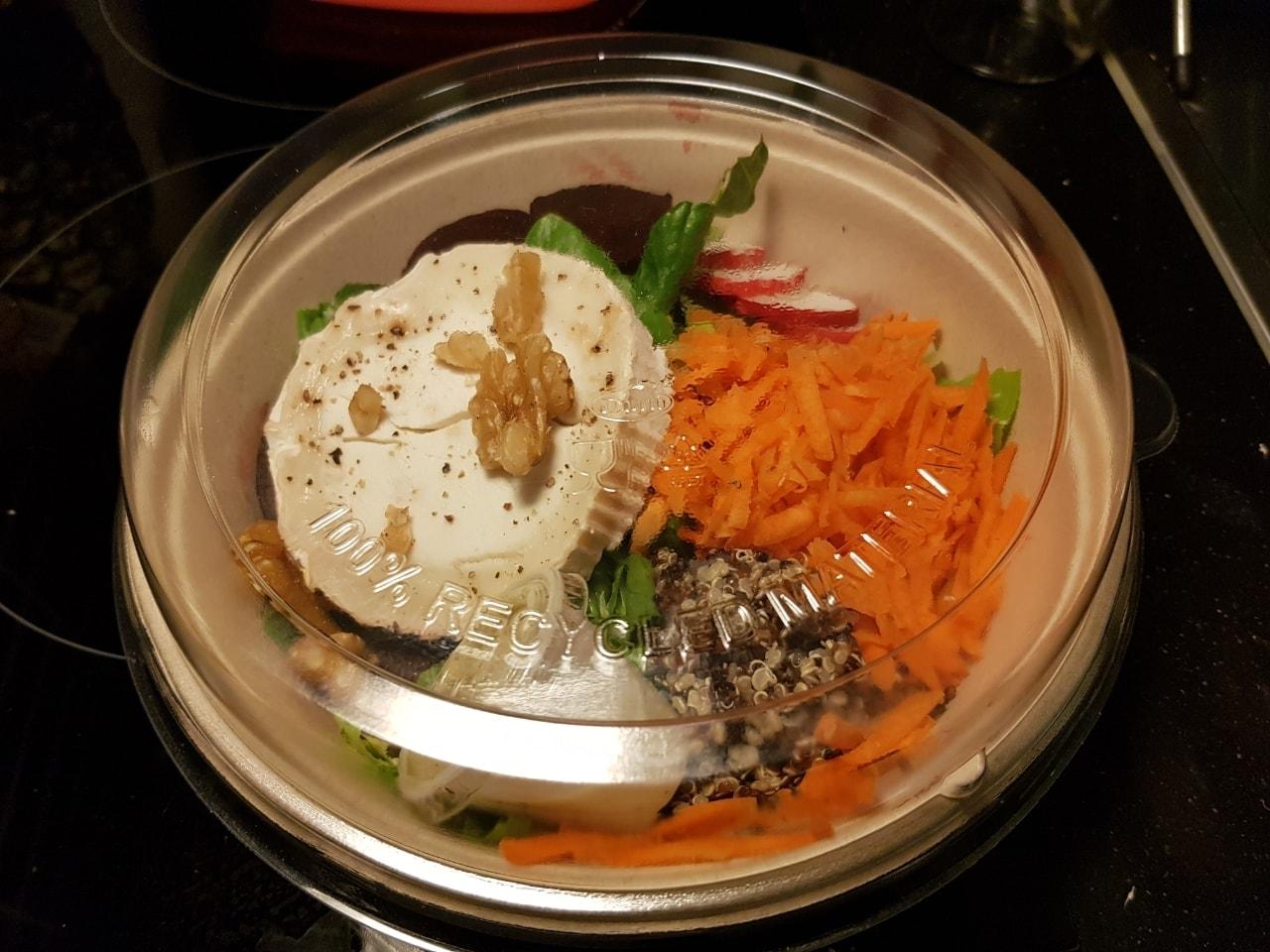Vegetarian salad from Caffe Nero