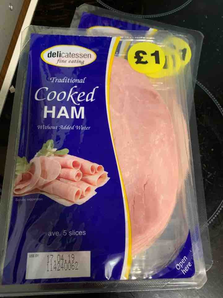 4 x cooked ham wafers