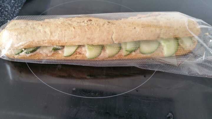 Tuna Mayonnaise and Cucumber Baguette