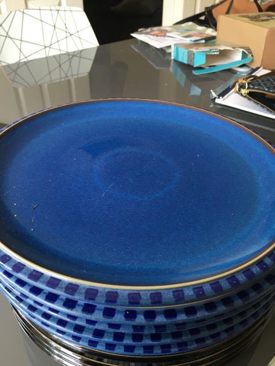 Set of 5 Denby plates