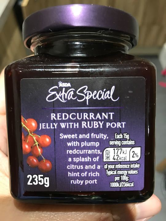 Asda ES Redcurrant Jelly with Ruby Port