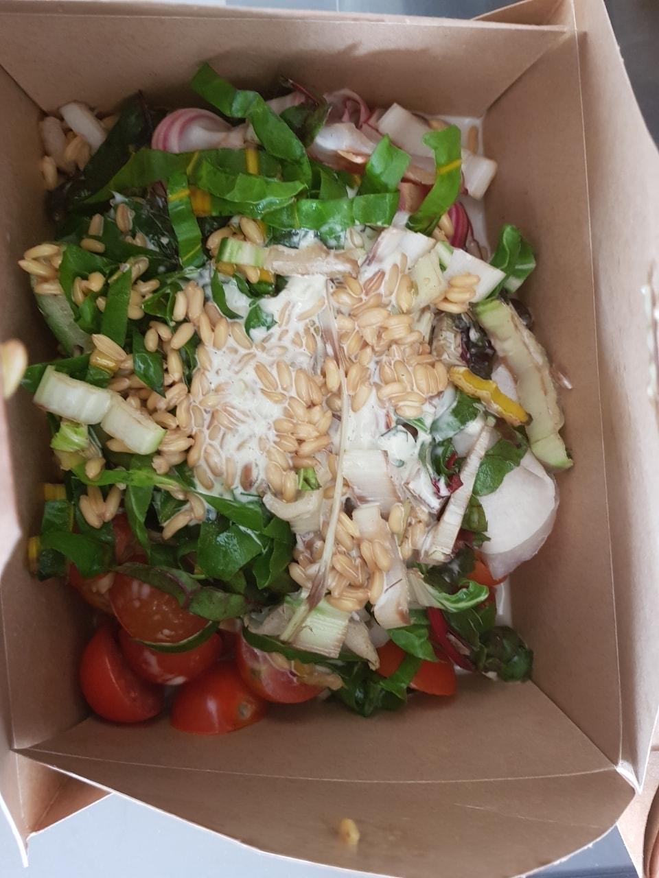 Large tasty salad from fotografiska!