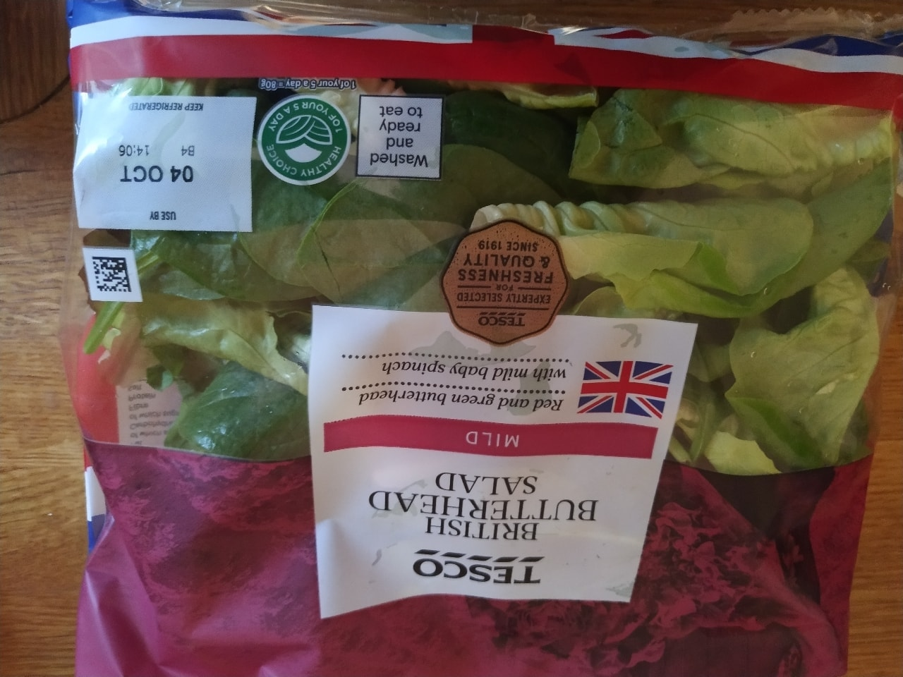 Tesco British butterhead salad