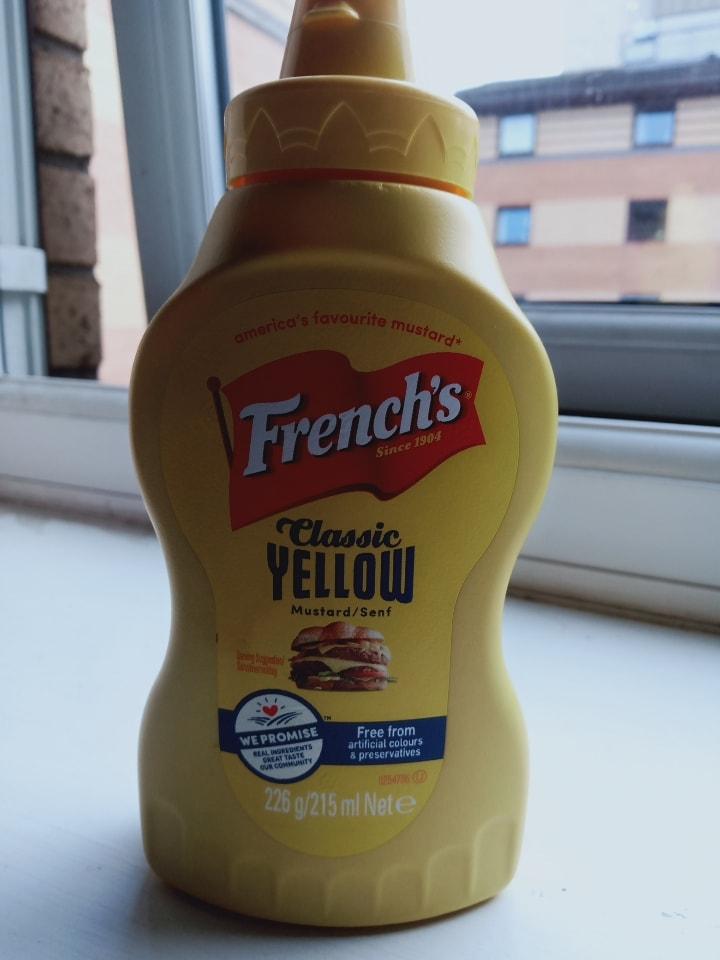 French's classic yellow mustard sauce