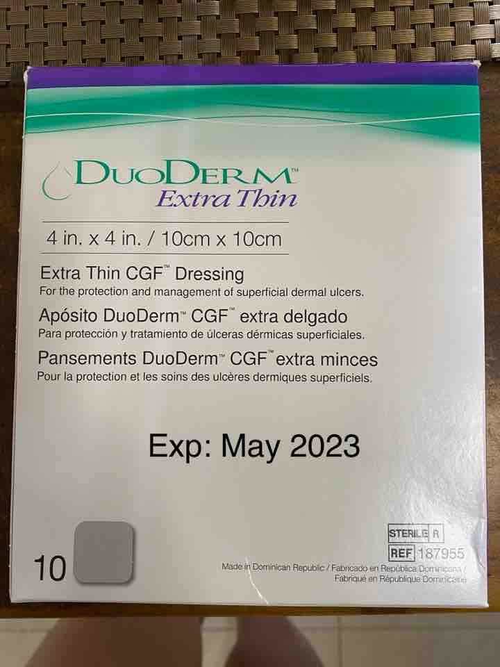 Duoderm Extra Thin CGF Dressing