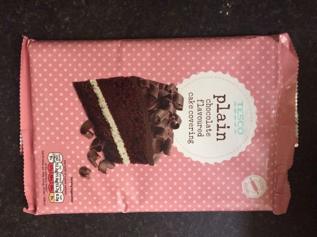 Tesco plain chocolate flavoured cake covering