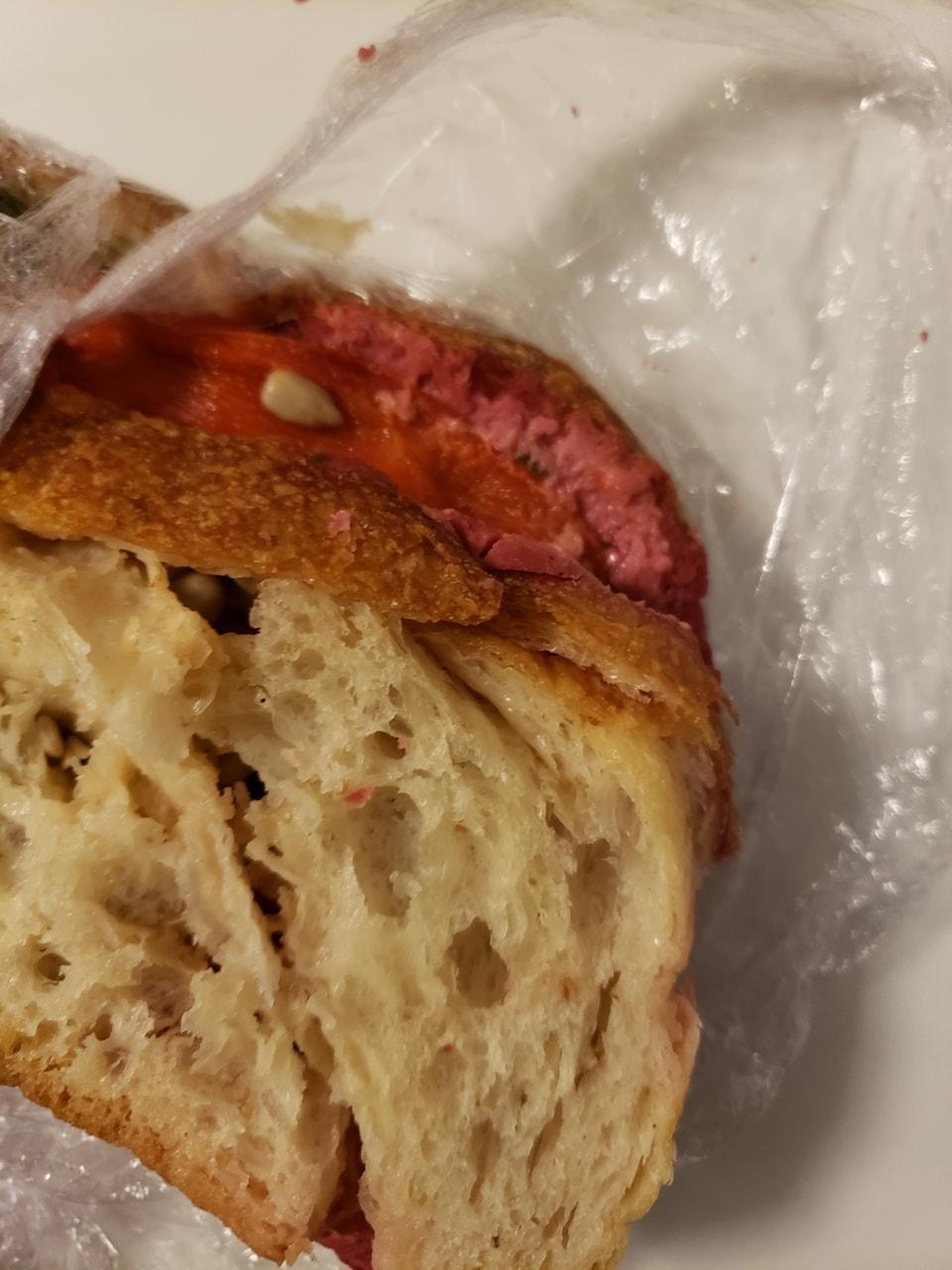 Fresh vegan sandwich (Rodbethummus) from caffe Nero (25/08)