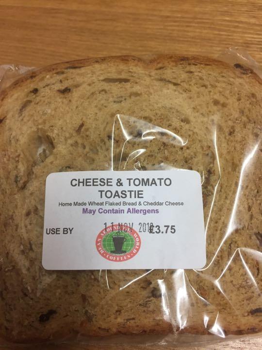 Cheese and tomato toastie