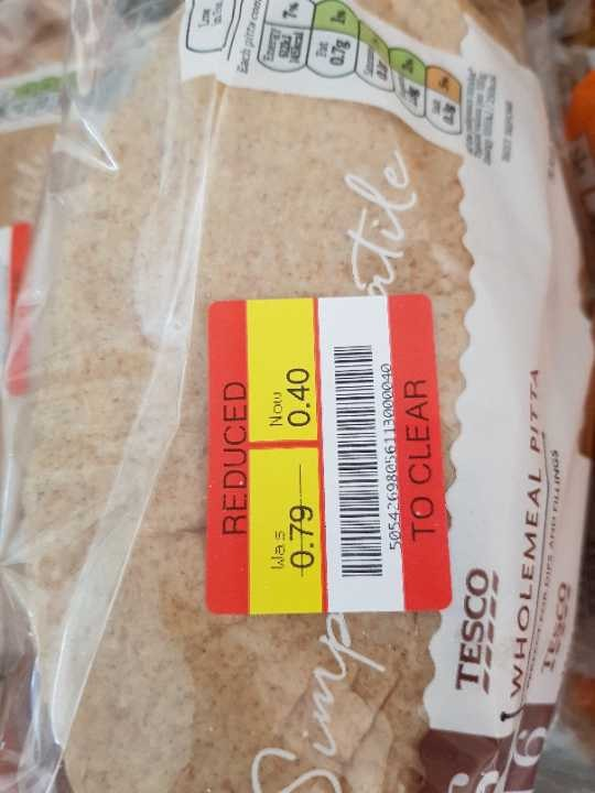Wholemeal pitta