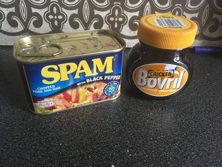 Spam and chicken bovril
